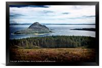 View of Holy Island, from The Isle of Arran., Framed Print