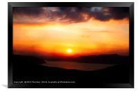 Sunsetting over Portree, Isle of Skye, Scotland, N, Framed Print