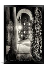 Lady Stairs Close, Edinburgh Old Town., Framed Print