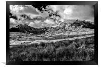 Snowy Peaks, Framed Print