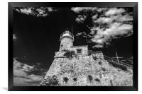 Lighthouse (noir), Framed Print
