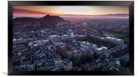 Sunrise over Arthur's Seat in Edinburgh, Framed Print