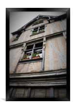 Medieval House in Chinon, France, Framed Print