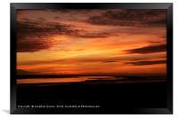 Lytham Sunset, Framed Print