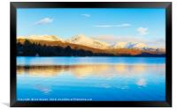 Winter reflections, Coniston Water, Framed Print