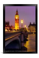 Evening on Westminster Bridge, Framed Print