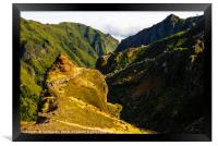 Ridges below Pico Ruivo, Framed Print