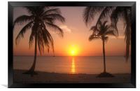 Cuban Sunset, Framed Print