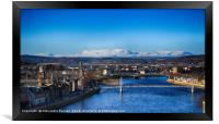 Spectacular cityscape in Inverness, Framed Print