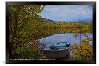 Boat on Semsvannet Lake, Framed Print
