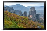 Monasteries with autumn colours, Framed Print