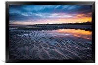 Beach sunrise, Framed Print