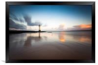 New Brighton lighthouse at sunrise, Framed Print