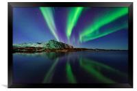 Northern lights in Lofoten, Framed Print