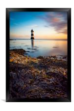 Sunrise at Penmon lighthouse, Framed Print