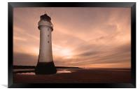 Dusk at New Brighton, Framed Print