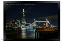 The Shard & Tower Bridge, Framed Print