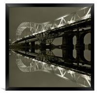 Runcorn Bridge, Framed Print