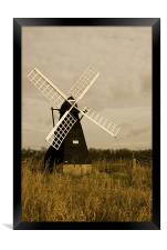 Ageing Windmill , Framed Print