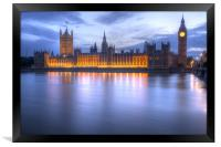 Big Ben and the houses of Parliament, Framed Print