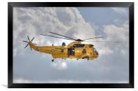 RAF Sea King Helicopter, Framed Print