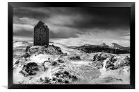 Smailholm Tower and The Eildon Hills, Framed Print