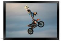 Stunt Rider 2, Framed Print