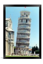 Pizza tower , Framed Print