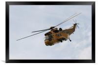 RAF Helicopter, Framed Print