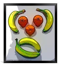 MONKEY FRUIT (POSTERIZED), Framed Print
