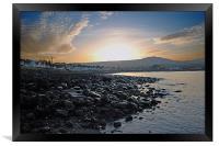 Ballygally sunset, Framed Print