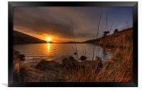 The Setting Sun over Dovestones, Framed Print