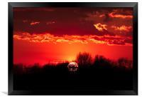 Norfolk Sunset - 1, Framed Print