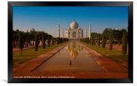 The Taj Mahal at Sunset, Framed Print