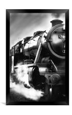 Black and White Train, Framed Print