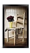 Chair and Flowers, Framed Print
