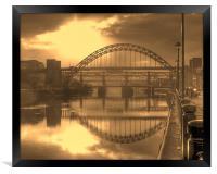 Sepia Tyne, Framed Print