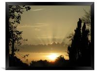 Sunset at home, Framed Print