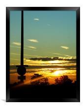 Sunrise at Dover Kent, Framed Print