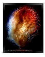 Fireworks display, Framed Print