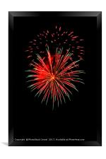 4th of July fireworks., Framed Print