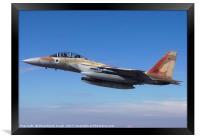 IAF Fighter jet F-15I in flight, Framed Print