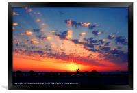 Mediterranean sun set, Framed Print