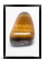 Tiger Eye Semiprecious Gemstone, Framed Print