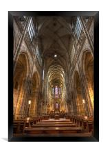 Interior of Saint Vitus Cathedral, Framed Print
