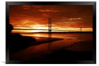 Humber Sunset, Framed Print