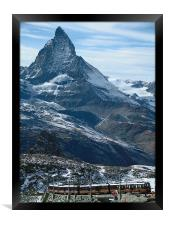 The Matterhorn Railway, Framed Print