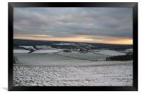 Surrey and Kent Landscape, Framed Print