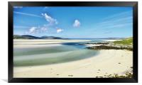 Luskentyre Beach Isle of Harris Scotland, Framed Print