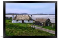 Cottage on North Uist, Framed Print